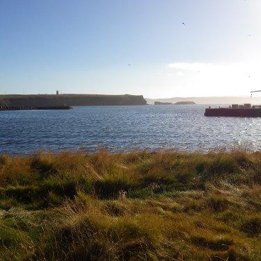Hotel je situovaný priamo vedľa zálivu s prístavom, výhľad od hotela.