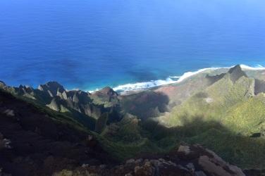 Výhľad na pláž Kalalau.