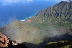 Počasie nám takisto vytváralo zaujímavé útvary. Zatiaľ jediné havajské vidmo v mojom živote.