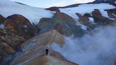 Jedno z najkrajších miest Islandu, Kerlingarfjöll