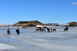 Aj keď som videla, že na ľade sú x kilové autá a kone, necítila som sa najbezpečenjšie.