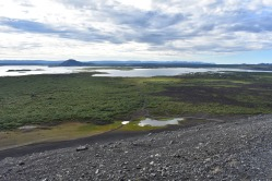 View from the top towards Mývatn lake